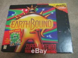 Earthbound (super Nintendo Snes) Cib Complète Avec Magazines + 1 Scratch N Sniff