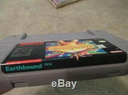 Earthbound (super Nintendo Snes) Cib Complète Avec Scratch N Sniff + Annonce + 2 Mags
