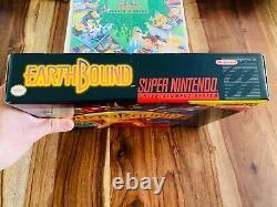 Earthboundsuper Nintendo Snes Cib Box Guide Stratégie Scratch Sniff Autocollants