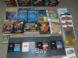 Énorme Super Nintendo Snes Collection 5 Systèmes + 73 Jeux Dans Des Boîtes Complètes