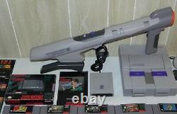 Énorme Super Nintendo (snes) Console Bundle Lot, 33 Jeux Super Scope. Mario +++