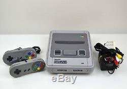 Ensemble Console Et Jeu Super Nintendo Snes Avec Mario Or Street Fighter II Turbo