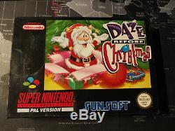 Étourdir Avant Noël Snes Super Nintendo Pal Komplett Cib