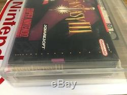 Final Fantasy III Super Nintendo (super Nintendo, 1994) Scellé En Usine Vga 80 Rare