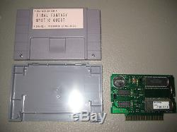Final Fantasy Mystic Quest Prototype - Jeu De Console Système Snes Super Nintendo
