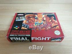 Final Fight Snes / Super Nintendo Game Pal Cib Testé