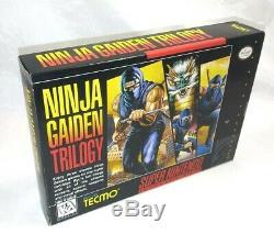 Gaiden Trilogy Ninja (super Nintendo) Box (uniquement)! Snes Super Rare Authentique