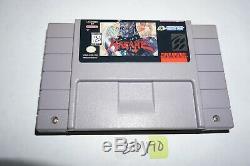 Hagane Final Conflict Super Nintendo Jeu Vidéo Authentique Snes Tres Rare