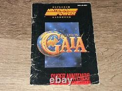 Illusion De Gaia Super Nintendo Snes Cib Complète Avec Carte Authentique