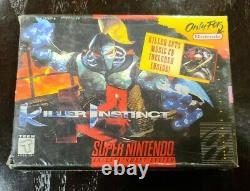 Instinct De Tueur (système De Divertissement Super Nintendo, 1995) Nib Factory Scellé