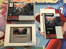 Jeu Complet Super Nintendo Snes Castlevania IV Version 100% Original Cib