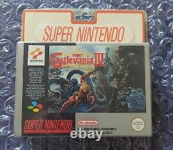 Jeu Snes Super Nintendo Castlevania Fah Blister Rigide Scellé