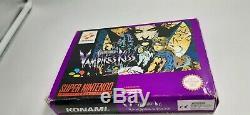 Jeu Super Nintendo Snes Castlevania Vampire Kiss De Complet