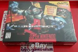 Killer Instinct Authentic Super Nintendo Sealed, Snes Originaux, Fast Intl Ship