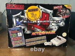 Killer Instinct Big Box Super Nintendo Boxed Console (australian Excl) Snes