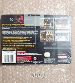 Killer Instinct Super Nintendo Snes Avec Des Cartes De Jeu Rares (sealed, New)