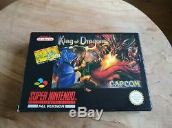 King Of Dragons Super Nintendo Snes Pal Cib Ultra Rare