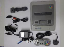 Konsole Super Nintendo Snes (vollständiges Top Set, 1 Contrôleur Et Ovp) 11242376