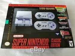 L @@ K! Système De Divertissement Super Super Nintendo Classic Snes 21 Jeux