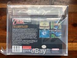 Legend Of Zelda Un Lien Vers Le Passé Super Nintendo Snes Nouveau95% Sealed-vga Q85 +