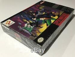 Les Aventures De Batman Et Robin Super Nintendo Snes Cib 100% Complete Near Mint