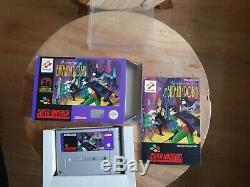 Les Aventures De Batman Et Robin Super Nintendo Snes Cib Pal Très Rare