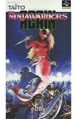 Les Ninja Warriors Taito Encore Une Fois Nintendo Super Famicom Japon Jeux Vidéo Sfc Snes