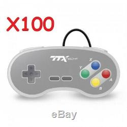 Lot De 100 Super Nintendo Snes Console Système De Remplacement Du Contrôleur 6ft Ttx