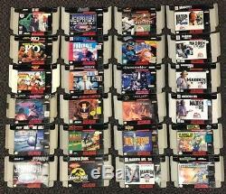 Lot De 125 Case Super Nintendo Snes Original Authentique Amérique Du Nord Presse