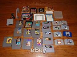 Lot De 24 Jeux Nes Snes N64 Mario Aerobiz Talespin Pokemon Nintendo 64 Super