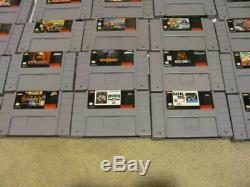 Lot De 36 Super Nintendo Snes Jeux Donkey Kong Country 123 + Mortal Kombat 123 ++