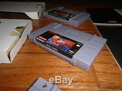 Lot De 4 Cib Super Nintendo Snes Jeux Zelda Dont Aladdin Star Wars X-men