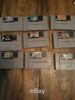 Lot De Jeux Snes Zelda, Super Mario, Mega Man X, Mortal Kombat, F-zero