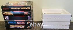 Manuel D'instruction De Super Nintendo Snes & Box Lot 1 Jeu