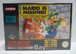 Mario Est Manquant! - Snes Super Nintendo Pal En Boîte