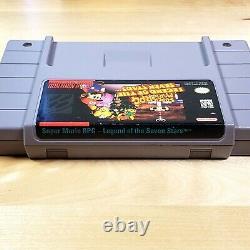Mario Rpg Complete Cib Excellent État Boîte Et Cartouche Snes Super Nintendo