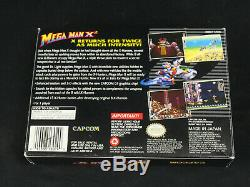 Mega Man X2 Super Nintendo Snes Cib 1er Complet Imprimer Le Japon Vg + / Ex Général