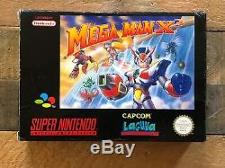 Mega Man X3 Pal Super Nintendo, Snes, Vendeur Américain, Complet Avec Box Et Manuel Cib