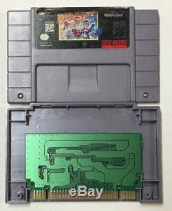 Mega Man X3 (super Nintendo, 1997 Snes) Testé 100% Authentique Marqueur Noir