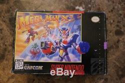 Mega Man X3 (super Nintendo, Snes), 1995 Boîte Complète, Jeu, Plateau, Manuel