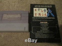 Mega Man X3 (super Nintendo Snes) Cib Complète Avec Le Magazine Walkthrough + Annonce