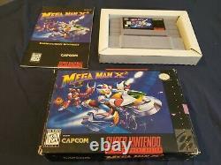 Mega Man X Et X2 Cib Snes Lot! Super Nintendo Complet Dans Box Megaman Manuels