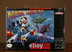 Mega Man X Snes Usine Scellée Marque Nouvelle Wata Vga Super Nintendo