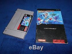 Mega Man X Terminer Super Nintendo Snes Cib Jeu