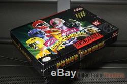 Mighty Morphin Power Rangers (super Nintendo, Snes) H-seam Scellé! Excellent