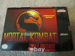 Mortal Kombat (super Nintendo Snes) Cib Complet Avec Affiche + Guide + Carte