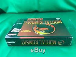 Mortal Kombat (super Nintendo Snes) Nouvelle Usine Scellé, Etui Protecteur