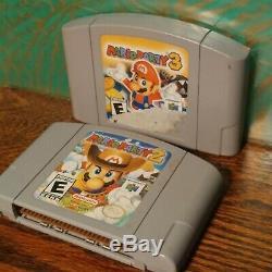 N64 Jeu Lotmario Party 1 2 3super Smash Broscontroller Nintendo 64 Authentic