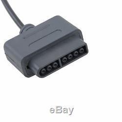 New Super Nintendo Snes Console Système Contrôleur 16 Bits 6ft Retro Control Pad