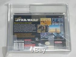 New Super Star Wars Super Nintendo Jeu Vga 85+ Nm + Gold Graded Snes Starwars